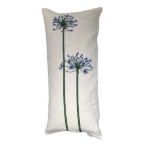 Agapanthus 35x70cm Linen/Cotton Cushion Cover