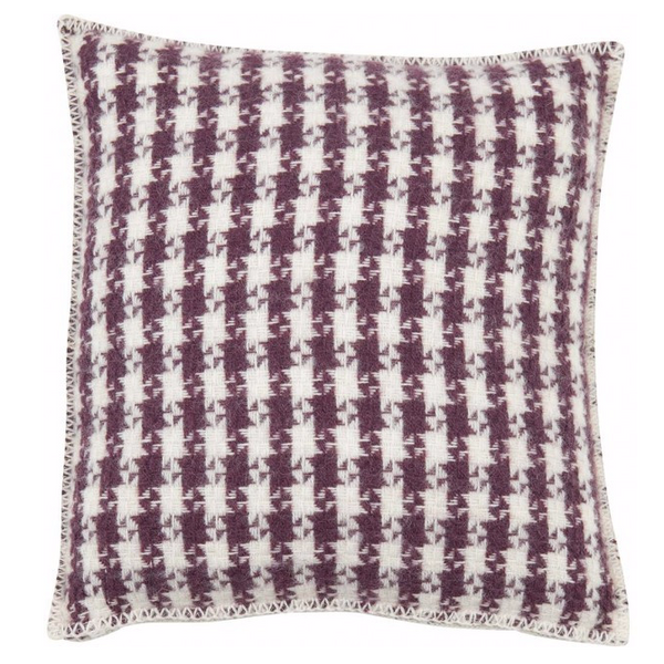Tweed Bordeaux Cushion Cover