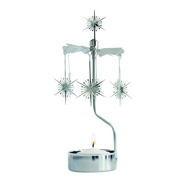Shimmering Star Rotary Tealight Candle Holder