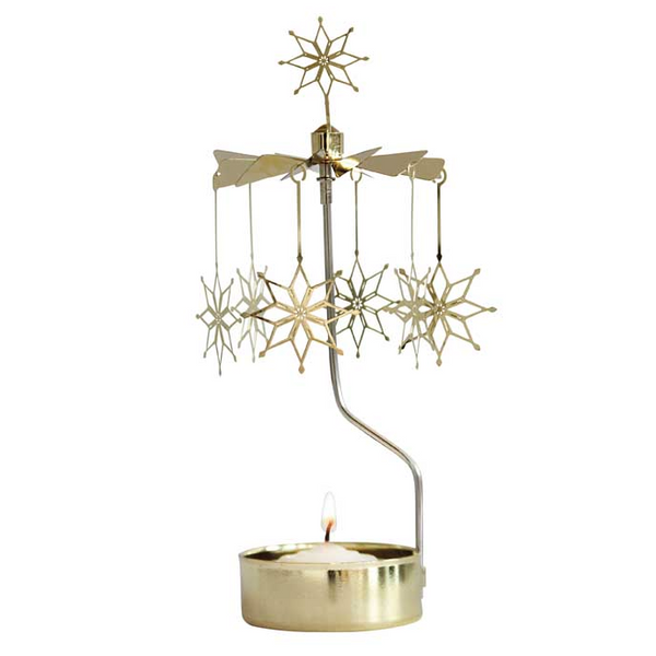 Etno Gold Rotary Candle Holder