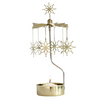 Etno Gold Rotary Tealight Candle Holder