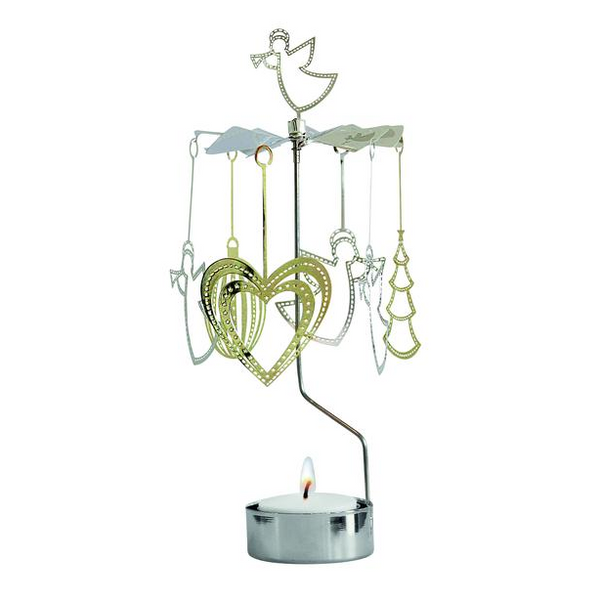 Big Christmas Deco Rotary Candle Holder - Northlight Homestore
