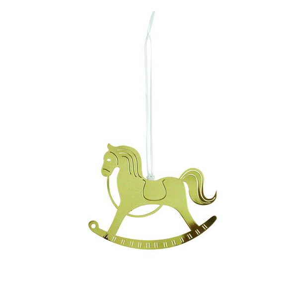 Gold Rocking Horse Deco