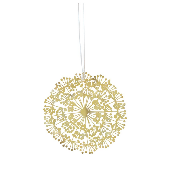 Dandelion Gold Decoration