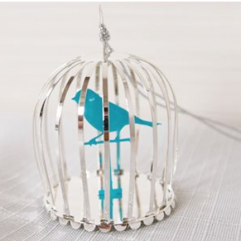 Bird Cage 3D Hanging Decoration - Northlight Homestore