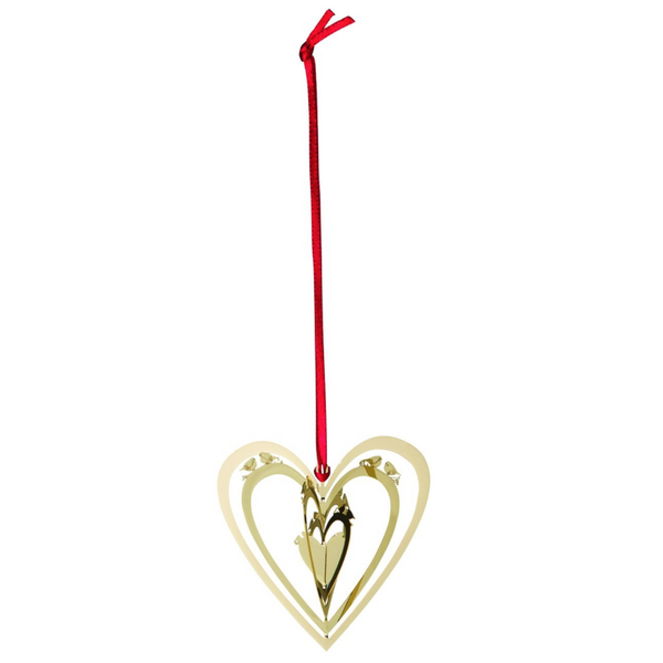 Heart Hanging Gold 3D Hanging Decoration