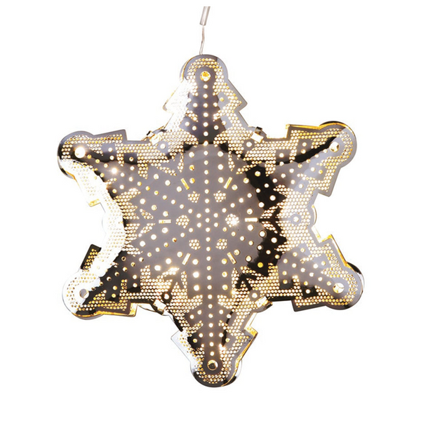 LED Star Decoration Silver