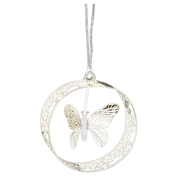 Butterfly Round Hanging Decoration - Northlight Homestore