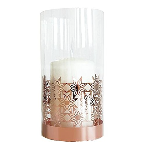 Copper Star Glass Tea Light Holder - Northlight Homestore