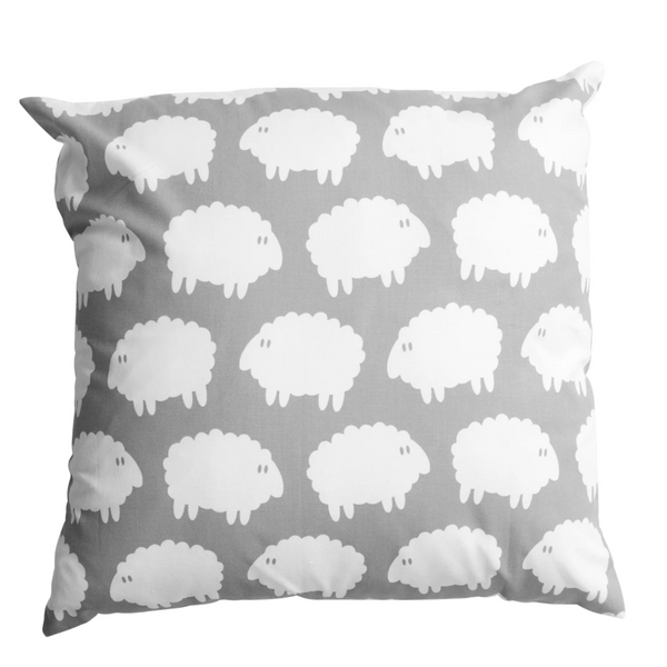 Lamb Square Cushion Cover Grey - Northlight Homestore