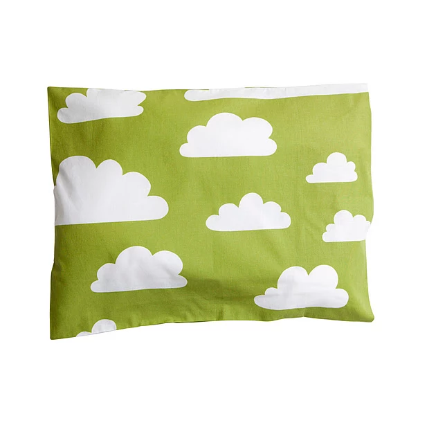 Moln Cloud Children's Pillow Case Green - Northlight Homestore
