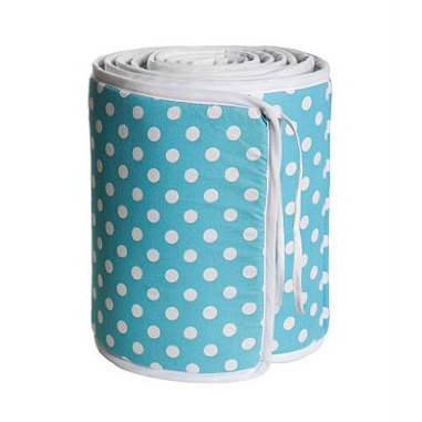Dots Turquoise Cot Bumper - Northlight Homestore