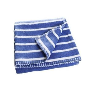 F:rg Form Randig Blue Children's Blanket - Northlight Homestore