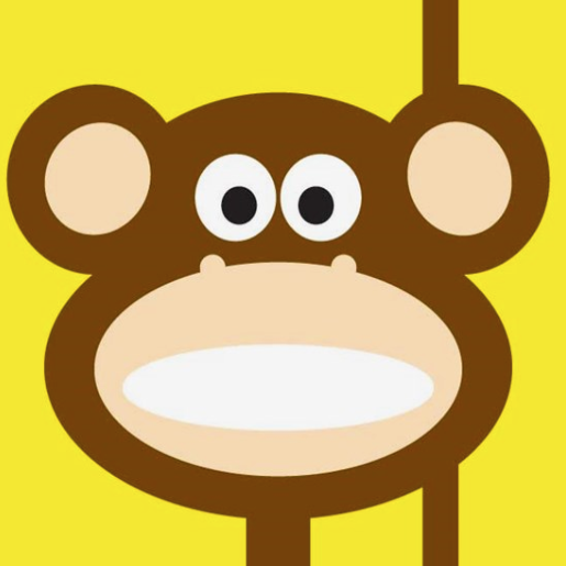 Mr. Fågel Monkey Yellow/Brown Gift Tag - Northlight Homestore