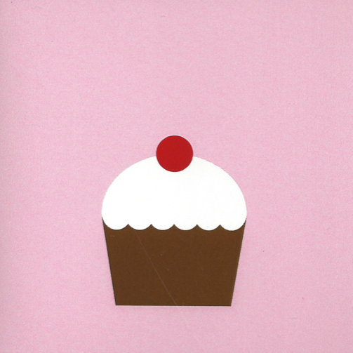 Mr. Fågel Cup Cake Pink/White Gift Tag - Northlight Homestore