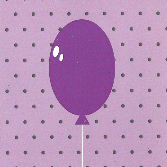 Mr. Fågel Balloon Purple/Lilac Gift Tag - Northlight Homestore
