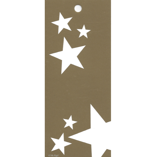 Mr. Fågel Stars Gold/White Gift Tag - Northlight Homestore