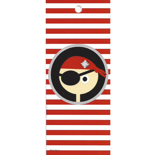 Pirate Red Stirpes/Black Gift Tag - Northlight Homestore