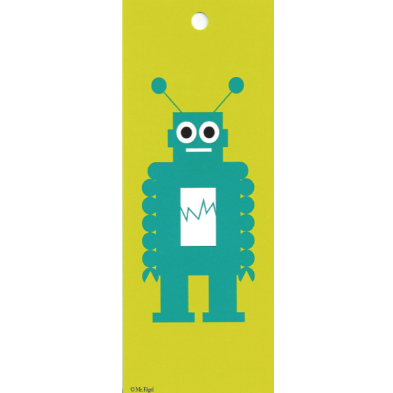 Robot Green/Turquoise Gift Tag - Northlight Homestore