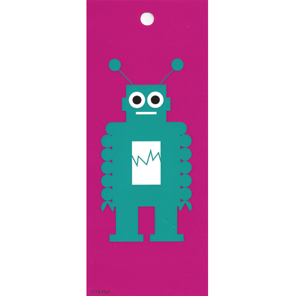 Robot Pink/Turquoise Gift Tag - Northlight Homestore