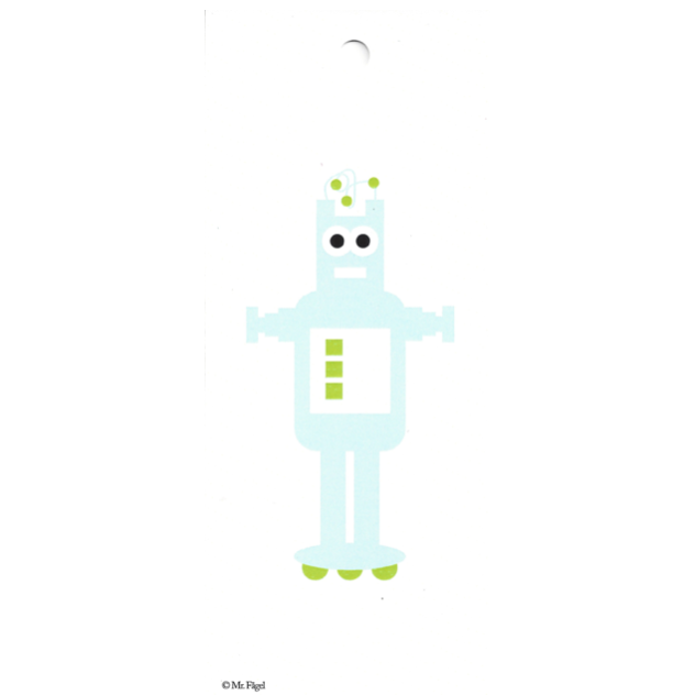 Robot Blue/White Gift Tag - Northlight Homestore