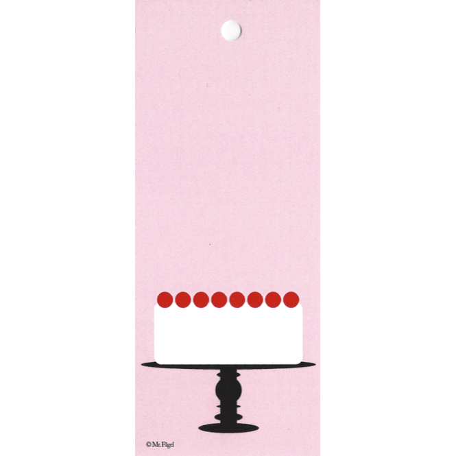 Cake On A Plate Pink/Black/White Gift Tag - Northlight Homestore
