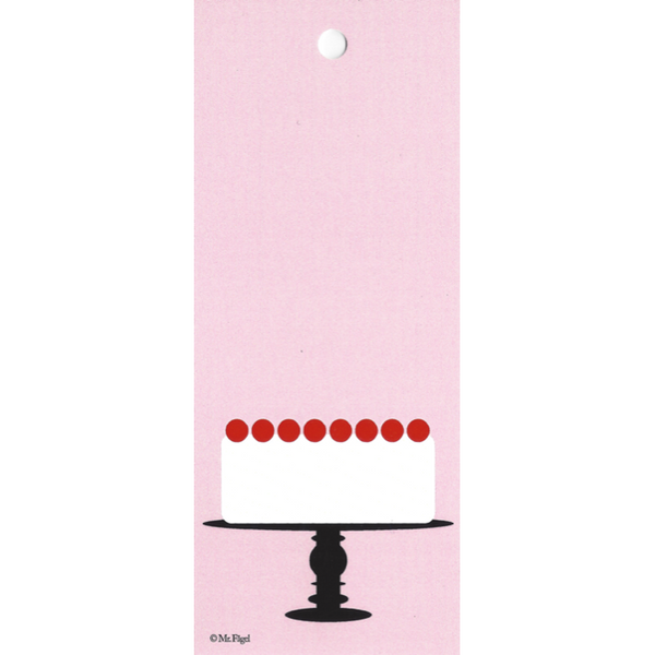 Cake On A Plate Pink/Black/White Gift Tag