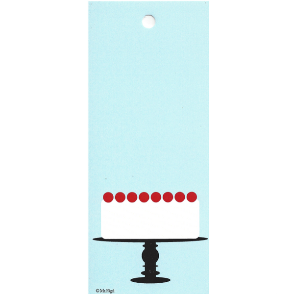 Cake On A Plate Blue/Black/White Gift Tag