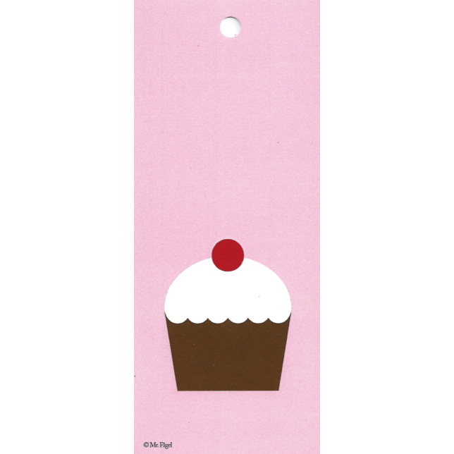 Cup Cake Pink/White/Brown Gift Tag
