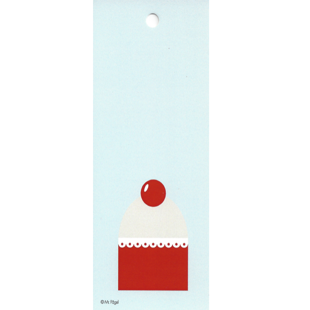 Cup Cake Blue/Red/Grey Gift Tag - Northlight Homestore