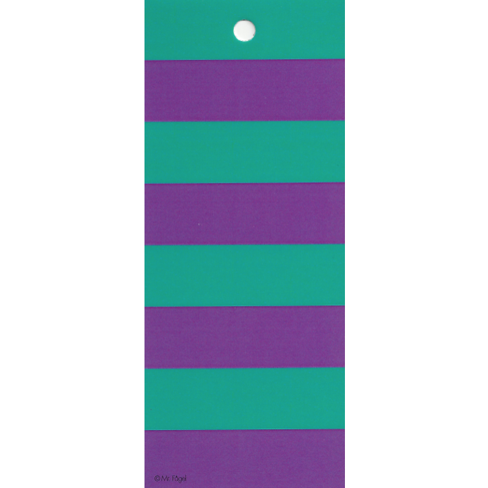 Stripes Turquoise/Purple Gift Tag - Northlight Homestore