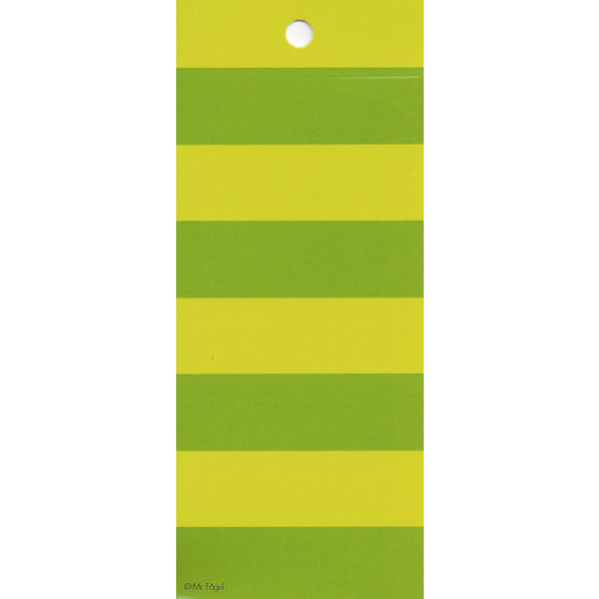 Stripes Green/Lime Gift Tag - Northlight Homestore