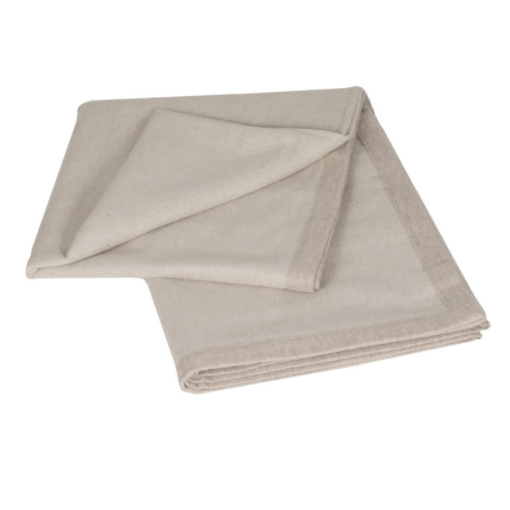 Choice White/Beige 100% Baby Alpaca Throw - Northlight Homestore
