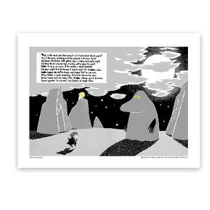Moomin Groke Art Print - Northlight Homestore