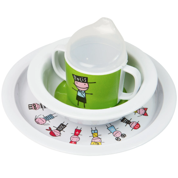 Tiny Police Dinnerware Set - Northlight Homestore