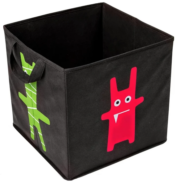 Storage Basket 30x30x30cm Monster Black