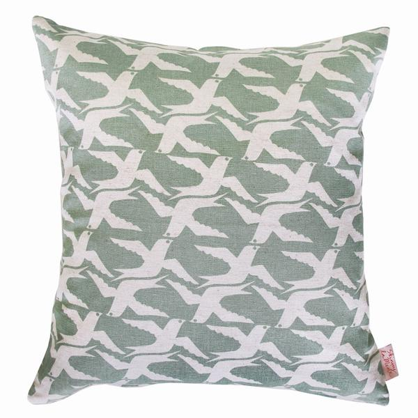 Cloudbirds Seafoam 48x48cm Cotton Cushion