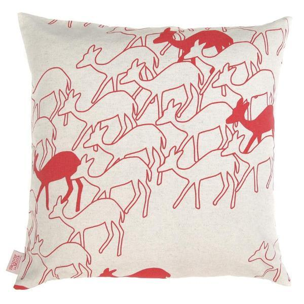 Duikers Red 48x48cm Cotton Cushion Cover