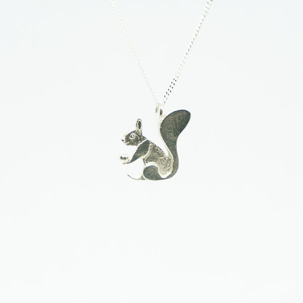 Squirrel Silver Necklace