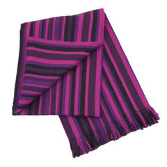 Stripe Purple 100% Baby Alpaca Throw