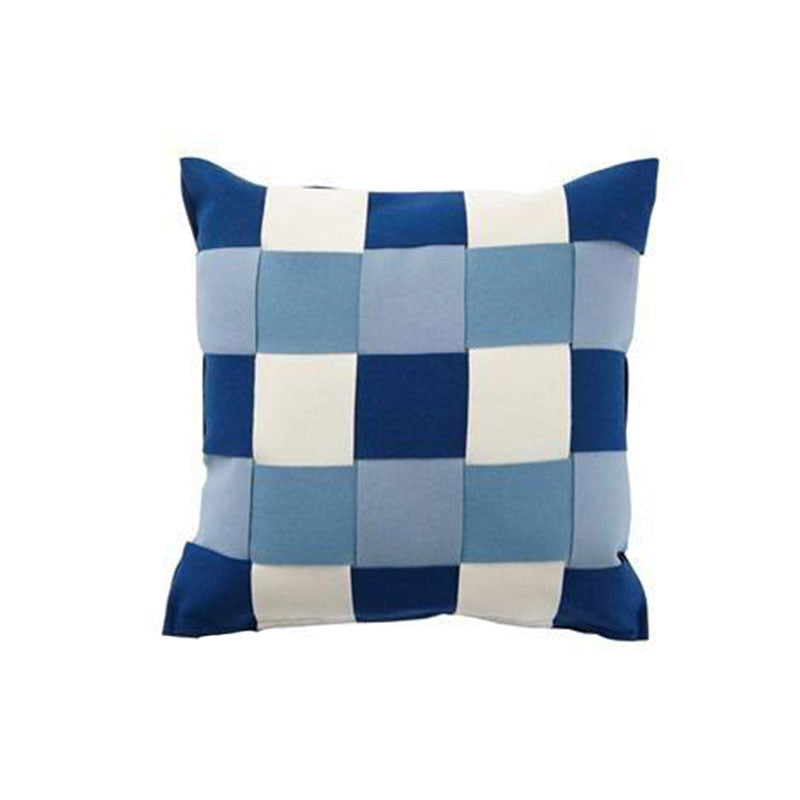 Twist Blue 45x45cm Merino Wool Cushion Covers