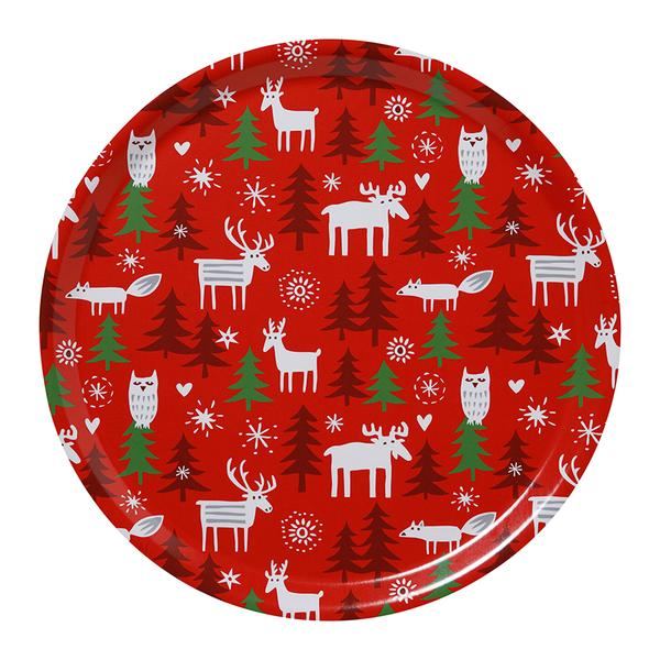 Christmas Forest Ø38cm Round Tray