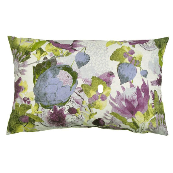 Anemone Lilac 70x45cm Linen/Cotton Cushion Cover