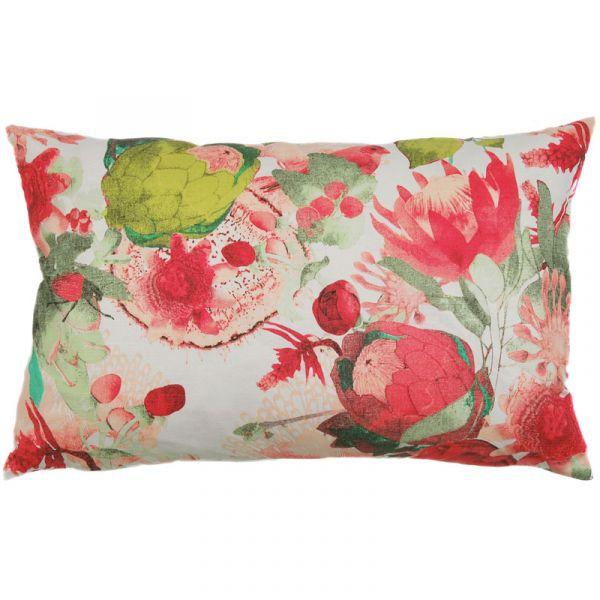 Anemone Coral 70x45cm Linen/Cotton Cushion Cover