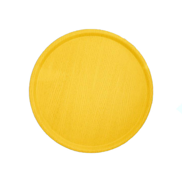 Coated Ash Tree Yellow Ø45cm Round Tray