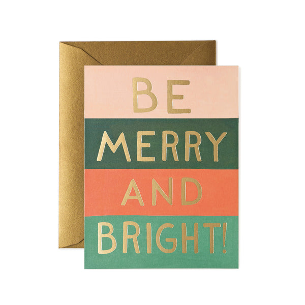 Be Merry & Bright Colour Block Boxed Set-8 Cards - Northlight Homestore