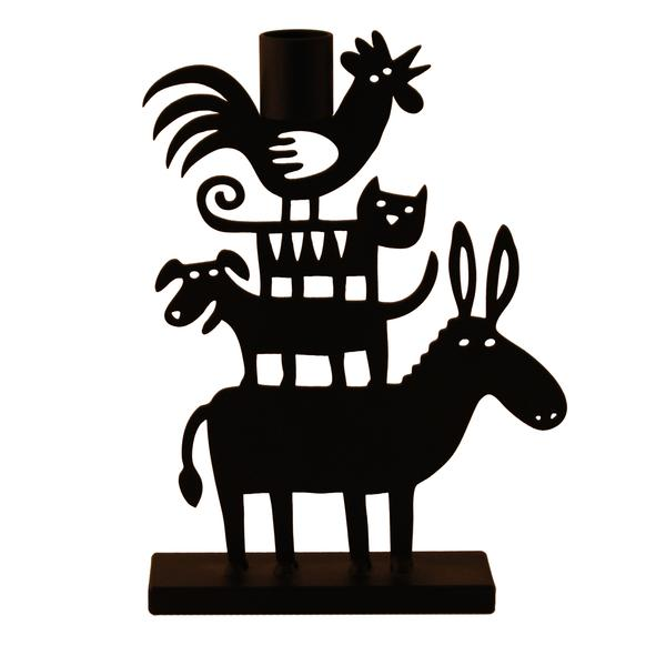 Donkey Pyramid Small Candle Holder