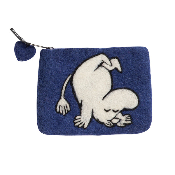 Moomin Up & Down Felt Purse Blue - Northlight Homestore