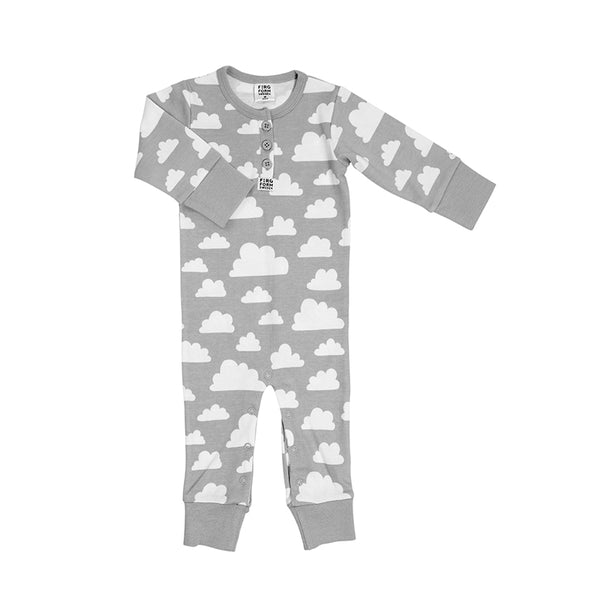 Bodysuit Cotton Cloud Grey (No Buttons) - 9-12 Months