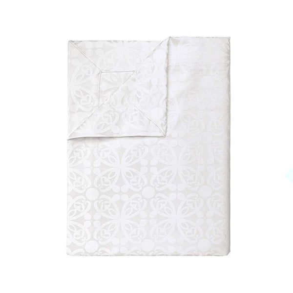 Bohemia White & Cream Damask Tablecloth